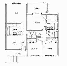 House Plans Single Level by 2 Bedroom 2 Bathroom House Plans 17 Home Decoration