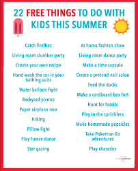 Things To Do With Your Family On The 22 Free Things To Do With This Summer And Marriage