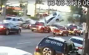 what is considered running a red light five car crash caught on video during rush hour traffic in hollywood