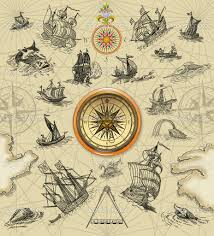 Map Of The United States With Compass by Pirate Treasure Map Background Pirate Map Stock Image Super