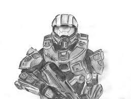 master chief sketch by 240p on deviantart