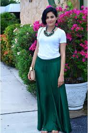 necklace with white shirt images Forest green zara skirts white j crew ts shirts forest green jpg