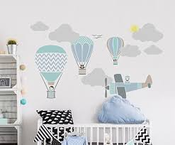 heißluftballon kinderzimmer set of 8 stencils for nursery boys childrens bedroom air