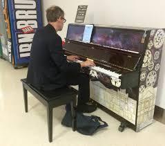 Aberdeen Airport Information Desk Street Pianos Aberdeen International Airport Arrivals Hall