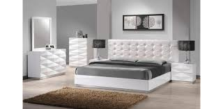 Modern Bedroom Furniture Cheap Modern White Leatherette 5pc Bedroom Set