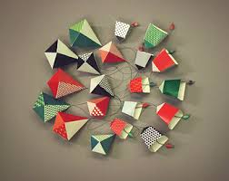 green n black bells ornaments diy paper