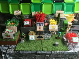 minecraft candy table nailed it i love birthday parties