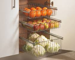 Pull Out Baskets For Kitchen Cabinets chrome pull out wire baskets kitchen base larder units cupboards