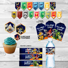 nexo knights printable party pack lego nexo knights banner