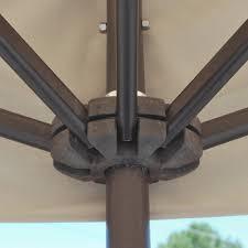 Galtech Patio Umbrellas by Galtech Aluminum 3 5 U0027 X 7 U0027 Rectangle Half Wall Umbrella 772