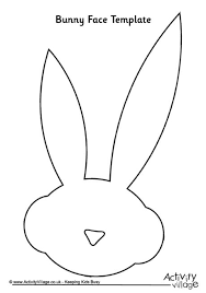 rabbit printables of bunny face outline we are all magical bunny