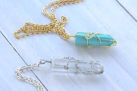 crystal necklace diy images Resin faux crystal wire wrapped pendant necklace diy resin crafts jpg