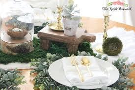 diy natural spring tablescape