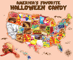 2017 top halloween candy by state interactive map candystore com