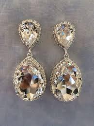drop bridal earrings aqua swarovski embellished teardrop bridal earrings