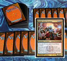 mtg blue red spells commander edh deck magic the gathering 100