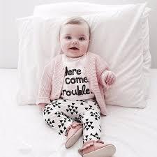 Popular Estilo de varejo 2018 outono infantil roupas de bebê menina  @WA56