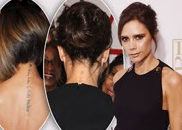 41 adorable victoria beckham neck tattoos