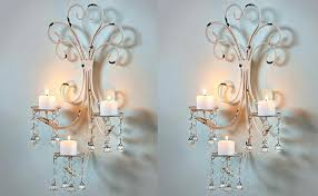 Wireless Wall Sconce Shabby Chic Candle Sconces U2013 Gstudio Us