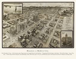 Houston City Limits Map Vintage Map Of Houston Texas 1912 Harris County Poster Vintage