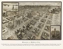 Map Of Houston Texas Vintage Map Of Houston Texas 1912 Harris County Poster Vintage