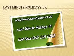 last minute holidays uk