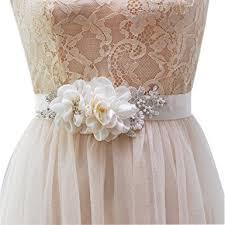 bridal sash azaleas handmade flower pearl beaded bridal sash belts ivory one