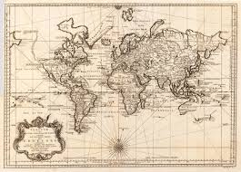 World Map With Seas by World Map 1748 Old Maps Pinterest