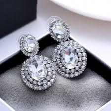 boucle d oreille mariage boucles d oreilles strass cristal argent mariage au royaume du bijou