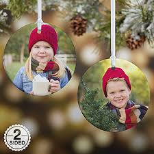 personalized photo ornament 2 sided gifts