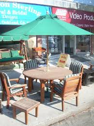 Redwood Patio Table Uhuru Furniture U0026 Collectibles August 2008