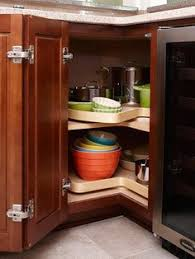 Kitchen Cabinets Lazy Susan Corner Cabinet by How To Deal With The Blind Corner Kitchen Cabinet Live Simply