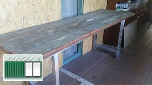 shipping container house u2013 building a kitchen bench worktop youtube