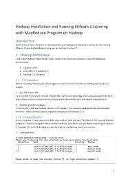 Resume Job Ubuntu by Hadoop Installation And Running Kmeans Clustering With Mapreduce Prog U2026