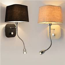 Bedroom Wall Lights With Switch Creative Fabric Wall Sconce Band Switch Modern Led Reading Wall