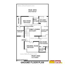 house plan for50 feet by 80 feet plot plot size 444 square yards