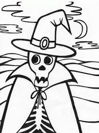 skeleton coloring pages coloringsuite com