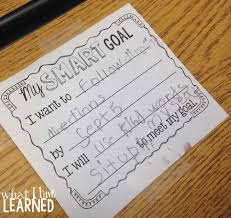 student goal setting in elementary