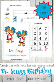 fun dr seuss activities and printables for early learners