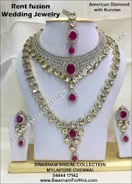 bridal sets for bridal jewelry for rent swarnam bridal collection home