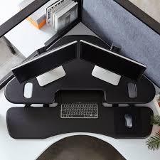 cube corner 48 corner standing desk by varidesk varidesk nz