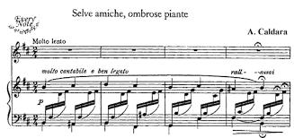 Selve Caldara Selve Amiche Ombrose Piante Songs Sheet Music Download