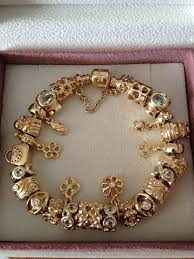 bracelet pandora gold images Pandora 14k gold charm bracelet pandora store ct jpg