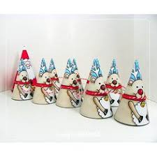 free printable color christmas cones put hole