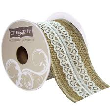 lace ribbon 2 burlap floral lace ribbon by celebrate it occasions