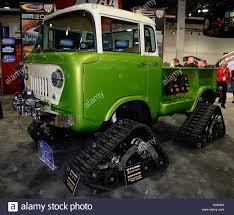 jeep snow tracks las vegas nevada usa 5th november 2014 a 1958 jeep fc170 with