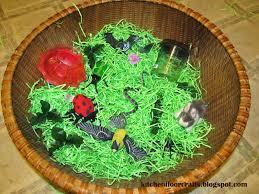 green paper easter grass kitchen floor crafts grass sensory basket