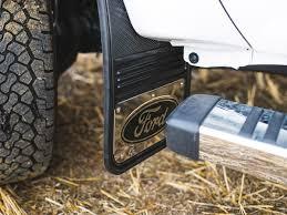 Ford Truck Mud Tiress - truck hardware gatorback mud flaps ford black oval sharptruck com