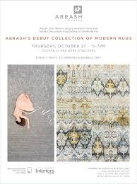 Rugs In Dallas Tx Abrash Debut Collection Of Modern Rugs Dallas Design District