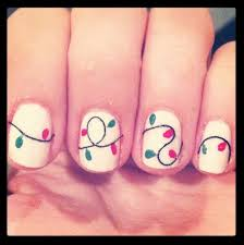 Christmas Light Nails by Don U0027t Know If I Should Pin This To Holidays Or Nails Hm Make